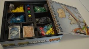 Interior de la caja